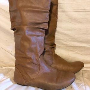 Shoes - No Name Knee-High Slouchy Tan Boots: 6.5